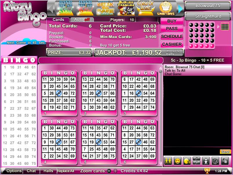 Ritzy Bingo Lobby