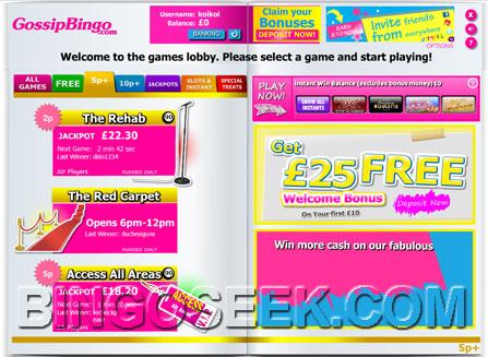 Gossip Bingo Lobby