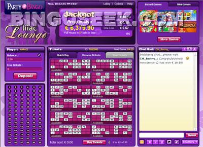 Party Bingo Lobby